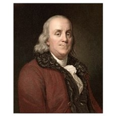 1778 Benjamin Franklin scientist Framed Print